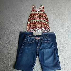 2for1 Lucky Brand Jeans Sz & Halter Top Pink Repub